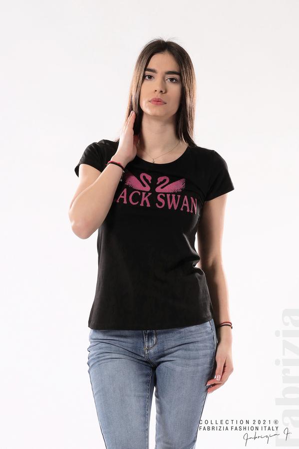 Блуза Black Swan черен 4 fabrizia