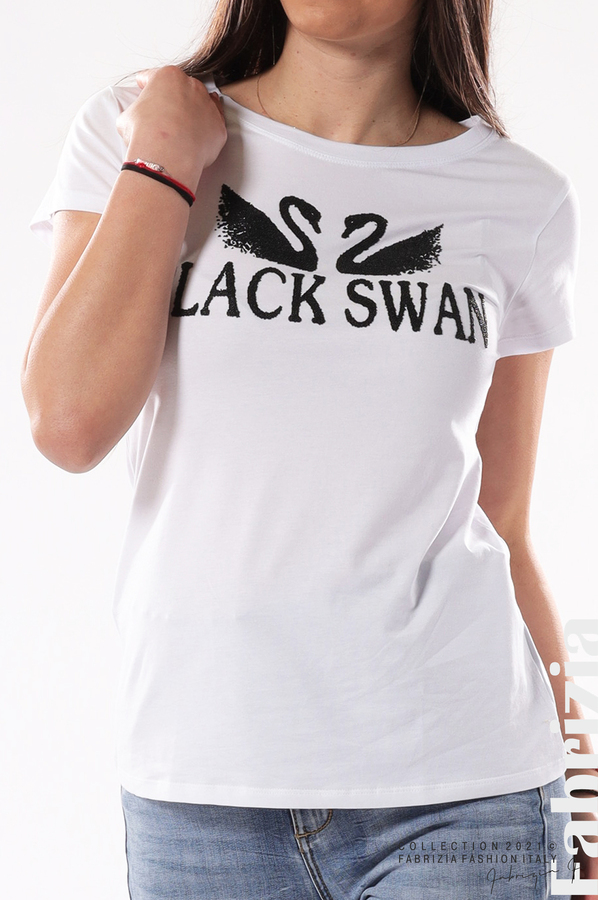 Блуза Black Swan бял/черен 2 fabrizia
