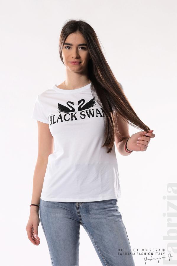 Блуза Black Swan бял/черен 1 fabrizia