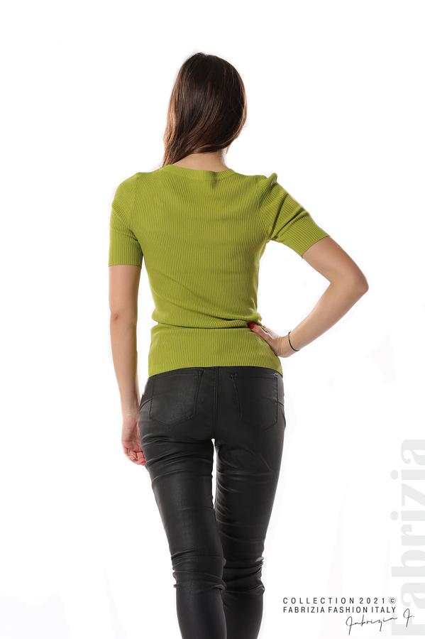 Рипсена блуза с игла тр.зелен 4 fabrizia
