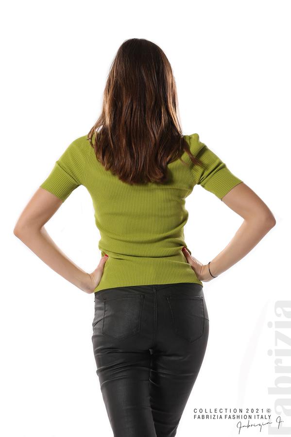 Рипсена блуза с игла тр.зелен 5 fabrizia
