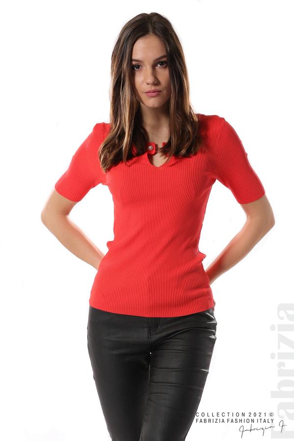 Рипсена блуза с игла т.оранж 3 fabrizia