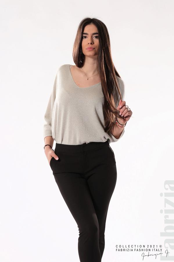 Панталон с надпис Love черен 3 fabrizia