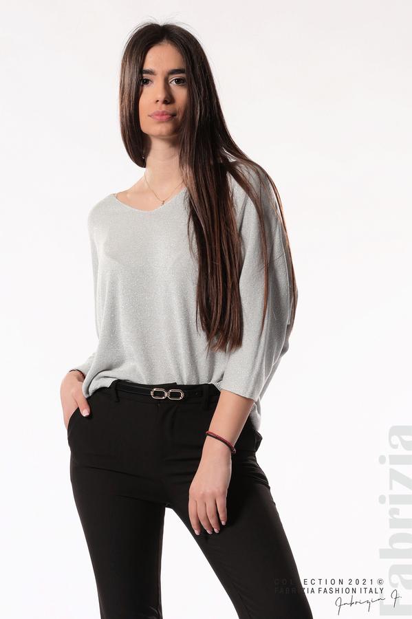 Елегантен панталон с аксесоар черен 3 fabrizia