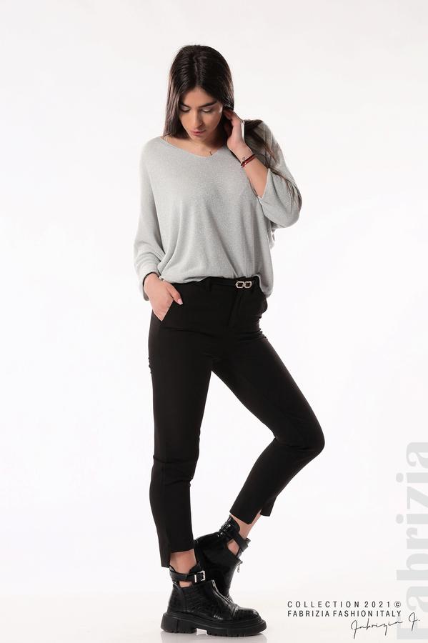Елегантен панталон с аксесоар черен 5 fabrizia