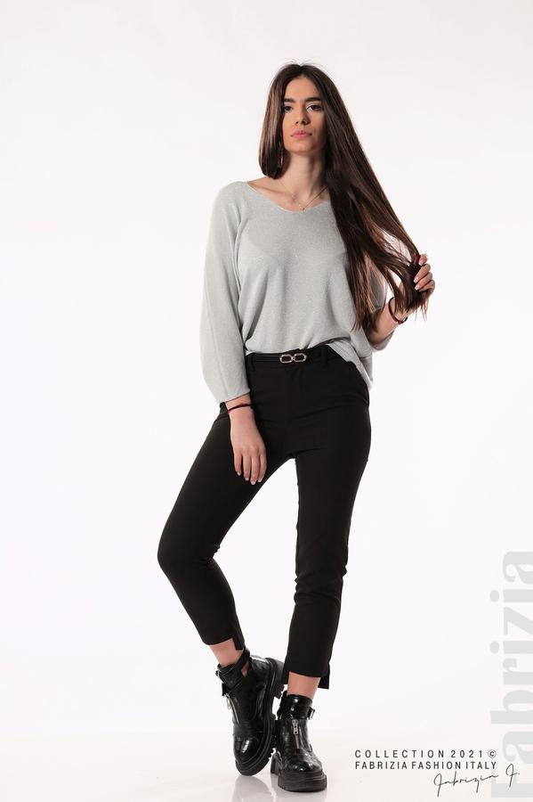 Елегантен панталон с аксесоар черен 1 fabrizia