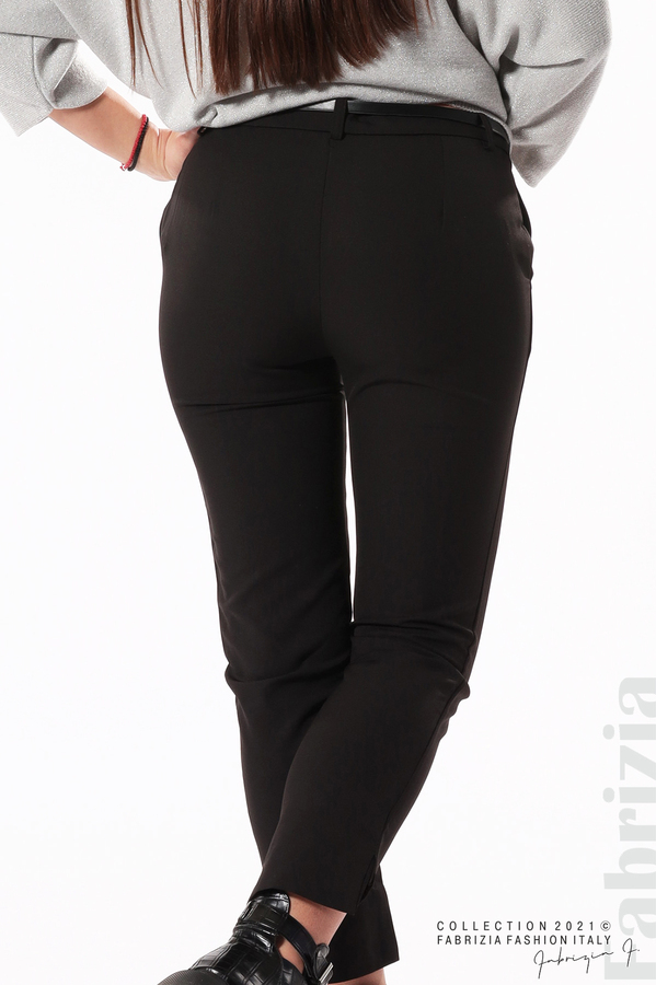 Елегантен панталон с аксесоар черен 7 fabrizia