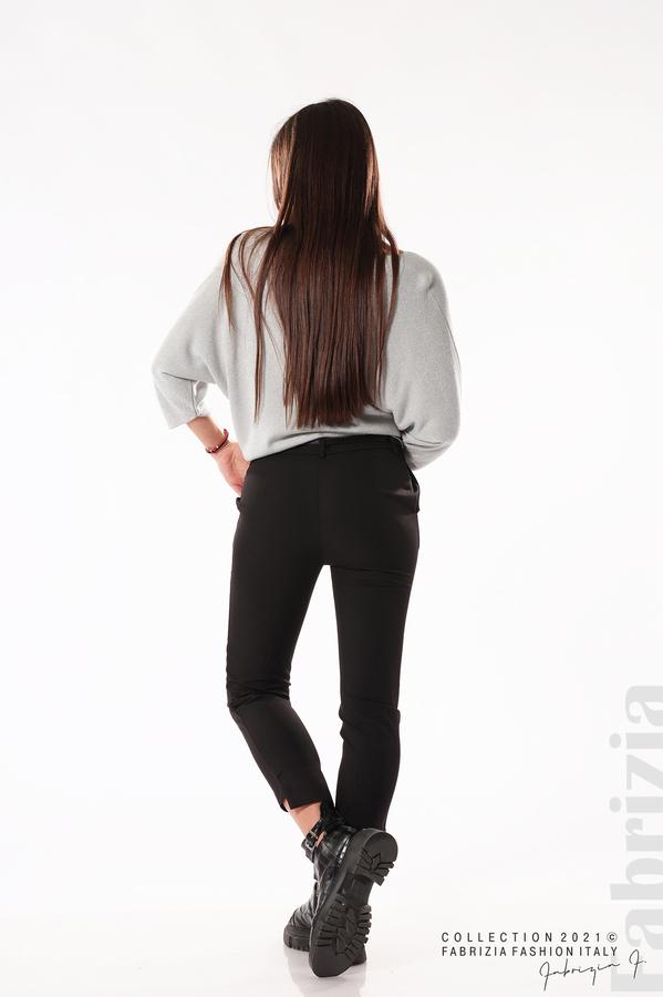 Елегантен панталон с аксесоар черен 6 fabrizia