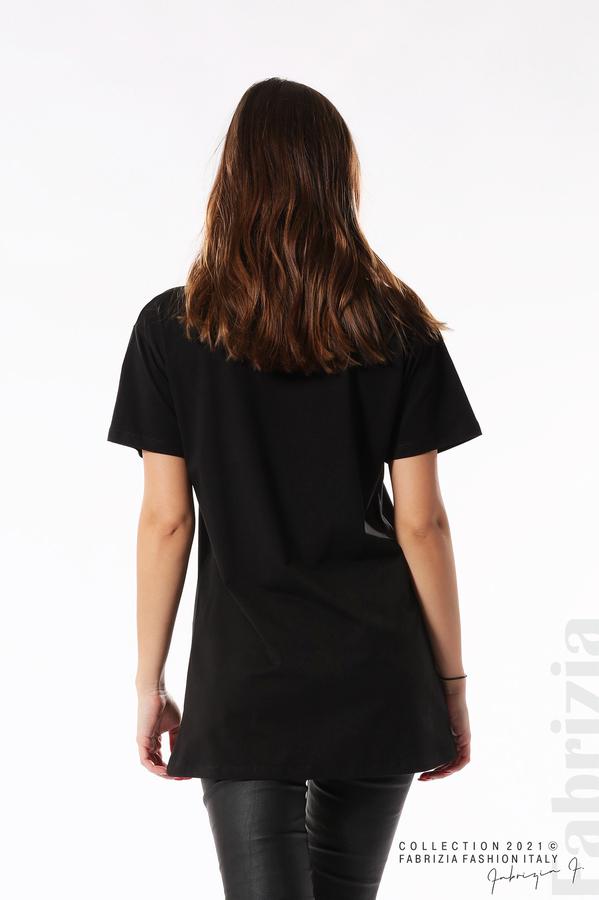 Блуза с мечета Sweet baby черен 5 fabrizia