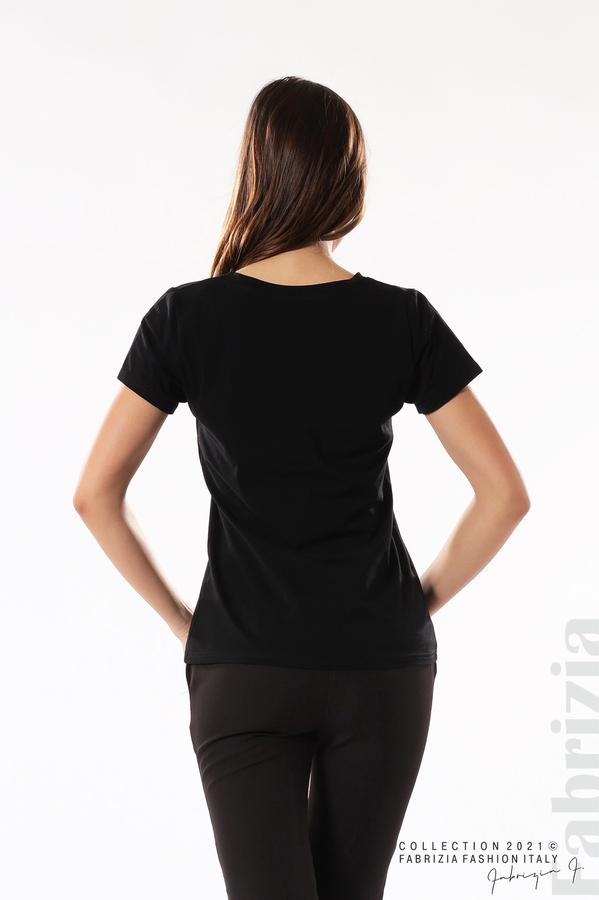 Блуза с надпис Amour черен 5 fabrizia
