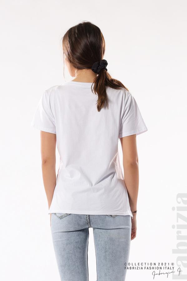 Блуза Paris с декоративен цип бял 6 fabrizia