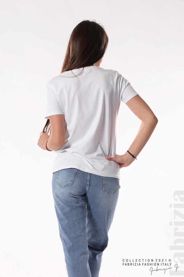 Блуза Best Edition с шапки бял 4 fabrizia