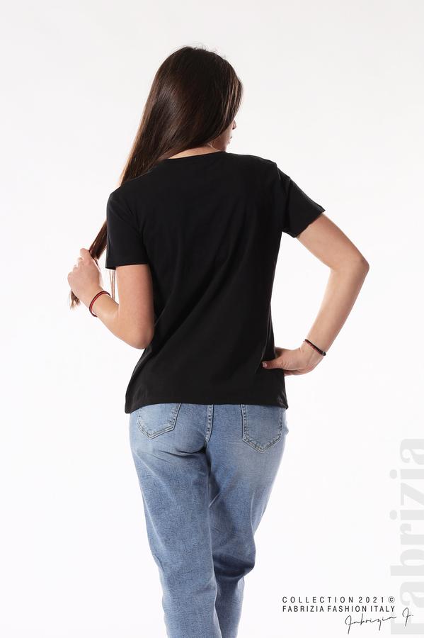 Блуза Best Edition с шапки черен 5 fabrizia