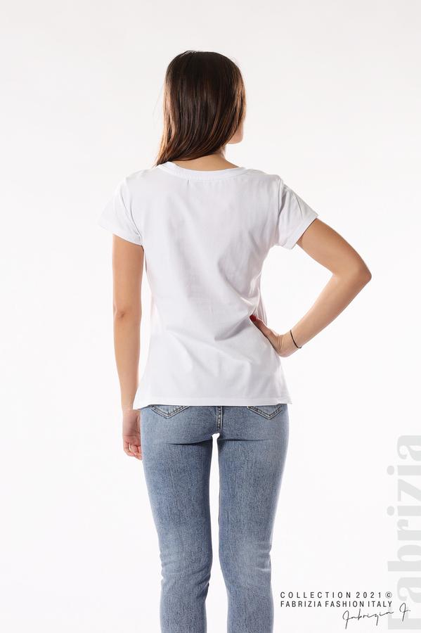 Блуза с мечета It's a new day бял/син 5 fabrizia