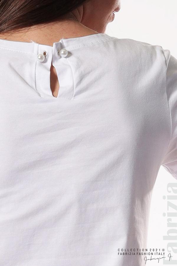 Блуза с надпис Chic бял 5 fabrizia