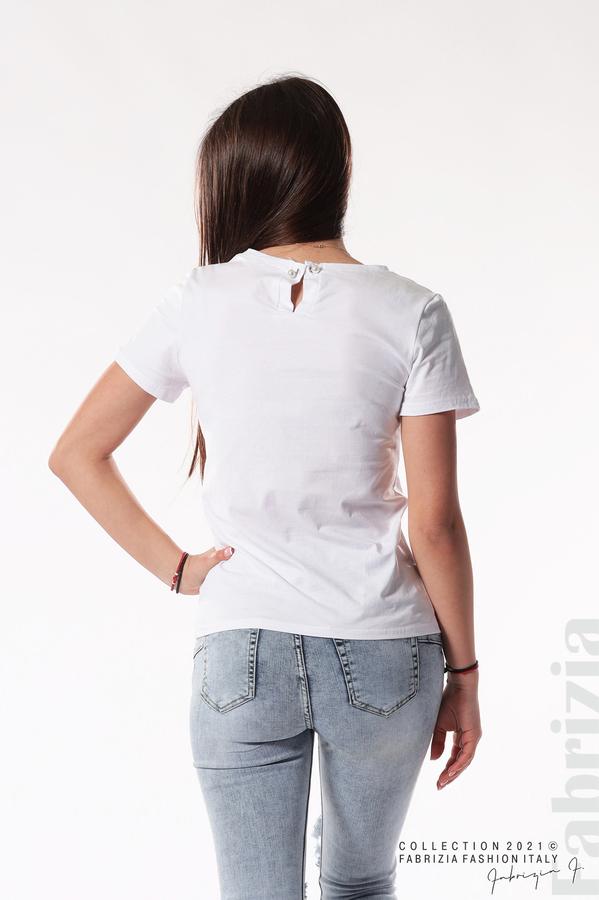 Блуза с надпис Chic бял 4 fabrizia