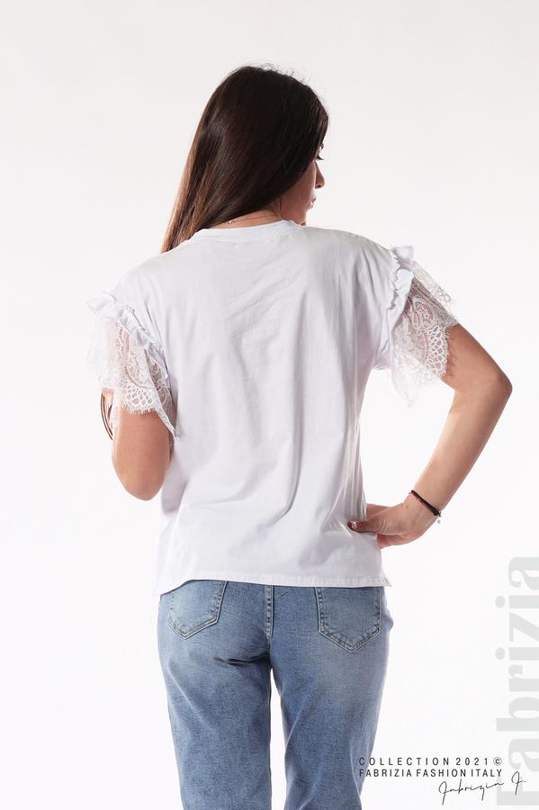 Блуза с щампа Love me like you do бял 5 fabrizia