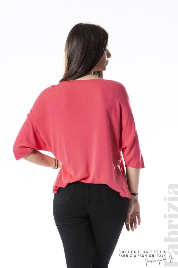 Едноцветна блуза фино плетиво фуксия 5 fabrizia