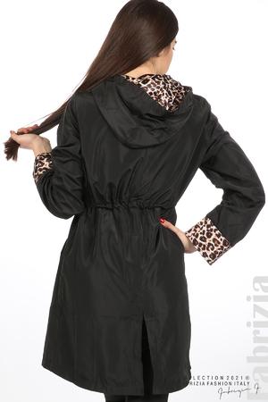 Дамски шлифер с леопардов акцент