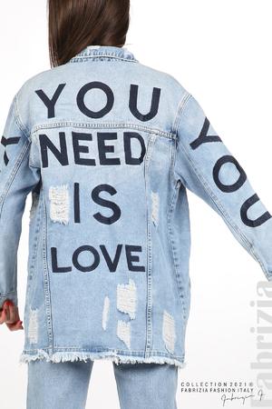 Дънково яке You Need is Love