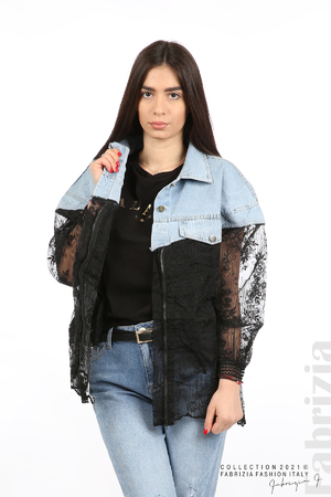 Комбинирана риза с черен тюл