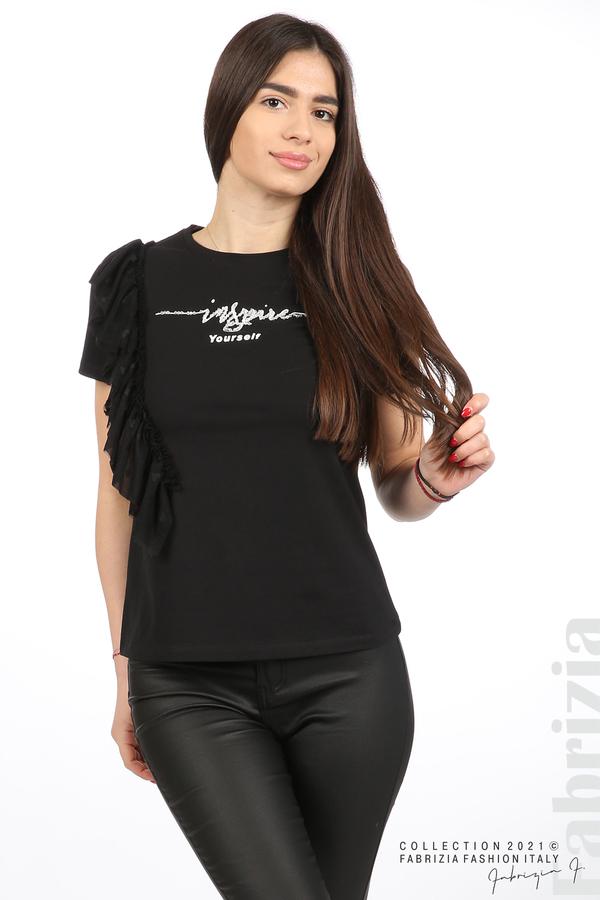 Блуза Yuorself с волани черен 2 fabrizia