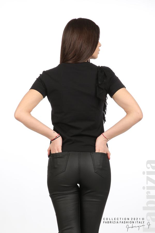 Блуза Yuorself с волани черен 6 fabrizia