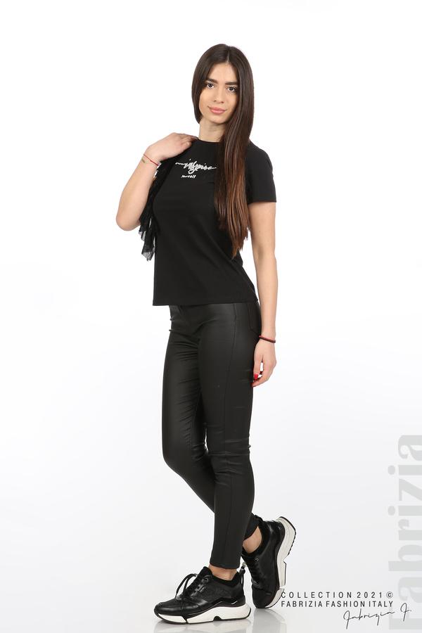 Блуза Yuorself с волани черен 3 fabrizia