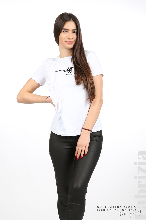 Блуза Yuorself с волани бял 3 fabrizia