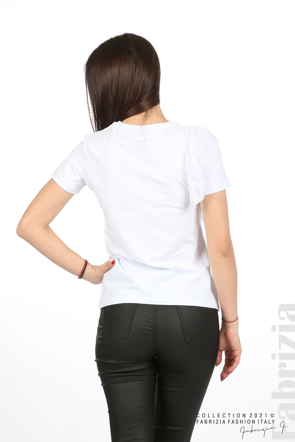 Блуза Yuorself с волани бял 5 fabrizia