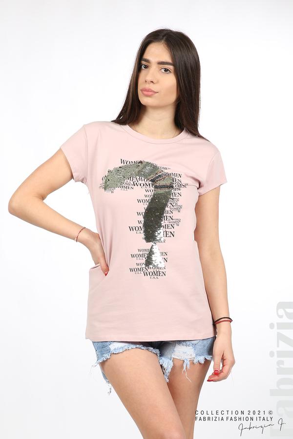 Блуза Women с въпросителен знак розов 1 fabrizia