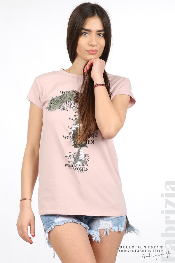 Блуза Women с въпросителен знак розов 2 fabrizia