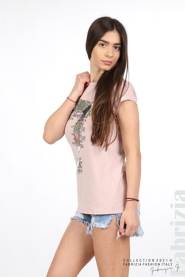 Блуза Women с въпросителен знак розов 4 fabrizia