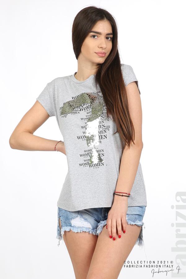 Блуза Women с въпросителен знак сив 1 fabrizia
