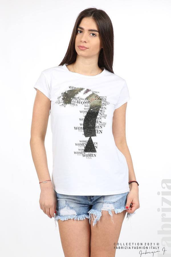 Блуза Women с въпросителен знак бял 2 fabrizia