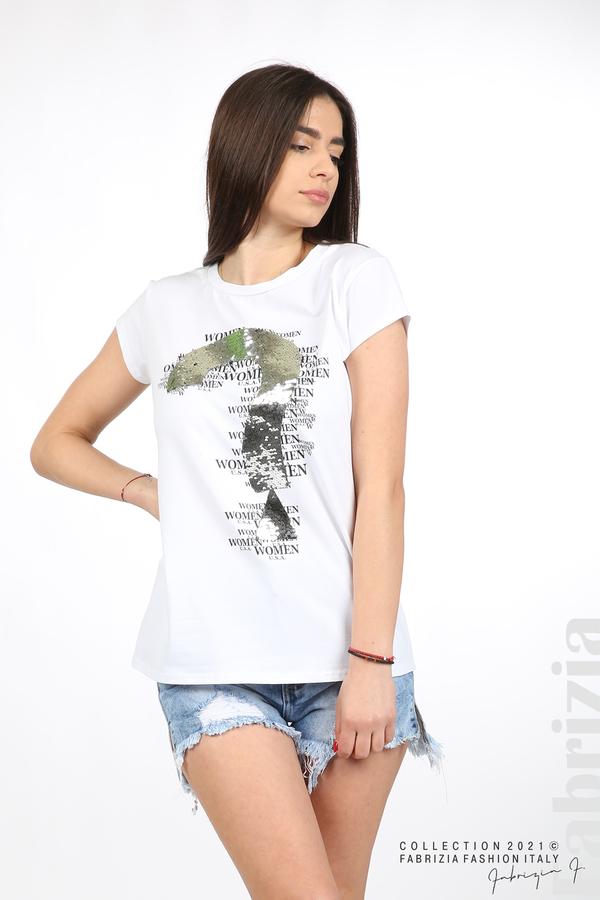 Блуза Women с въпросителен знак бял 1 fabrizia