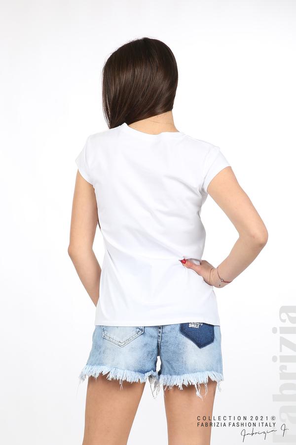Блуза Women с въпросителен знак бял 4 fabrizia