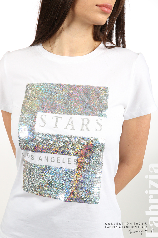 Блуза Stars Los Angeles бял/сребрист 2 fabrizia