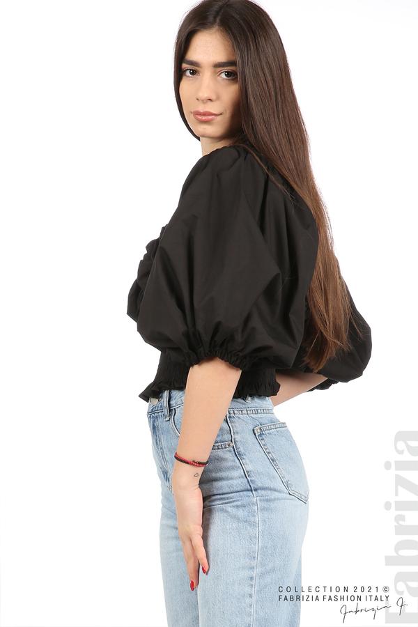 Блуза с обемни ръкави черен 2 fabrizia