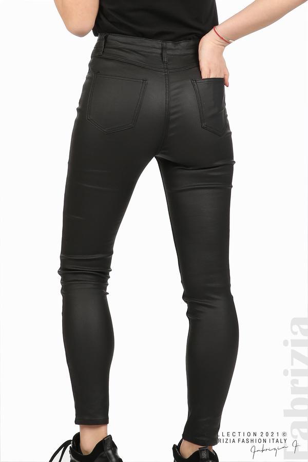 Черен панталон с промазан ефект черен 7 fabrizia