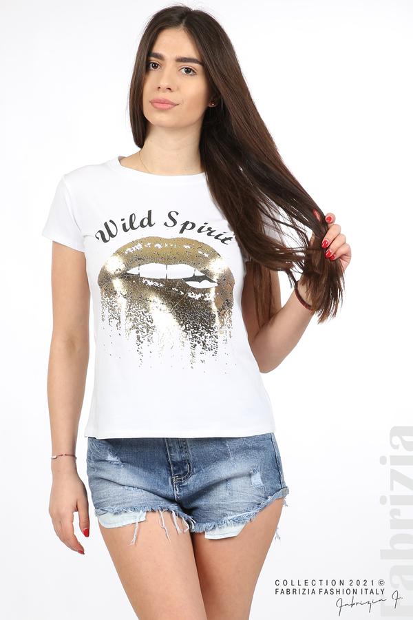 Блуза Wild Spirit бял/златист 2 fabrizia