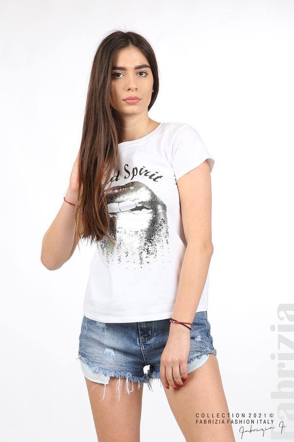 Блуза Wild Spirit бял/сребрист 1 fabrizia