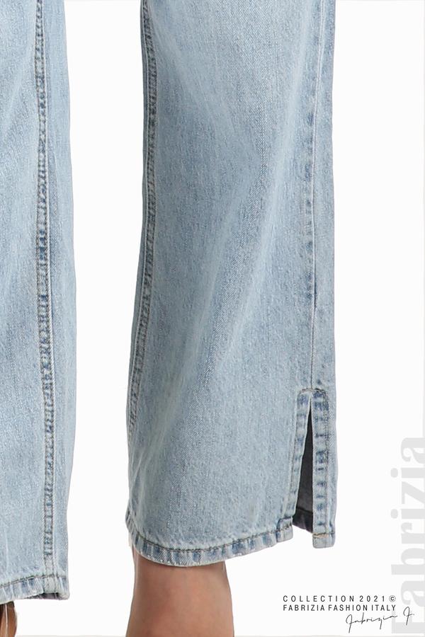 Широки дънки с цепнат крачол 8 fabrizia