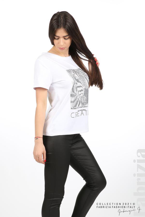 Блуза Creativ зебра бял 4 fabrizia