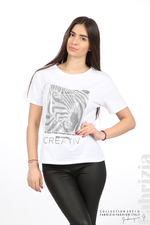 Блуза Creativ зебра бял 1 fabrizia