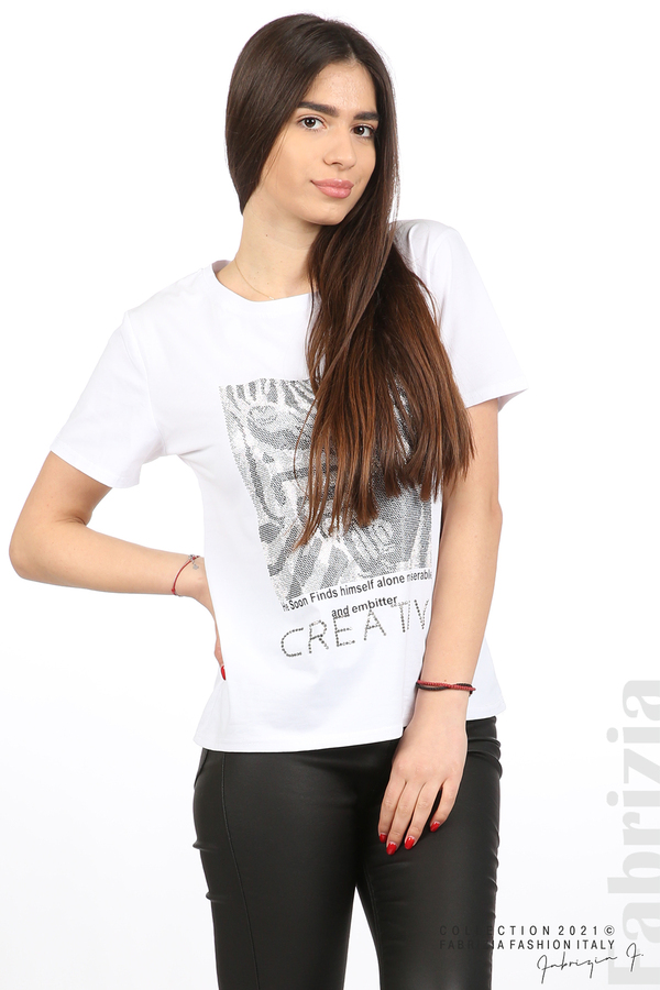 Блуза Creativ зебра бял 2 fabrizia