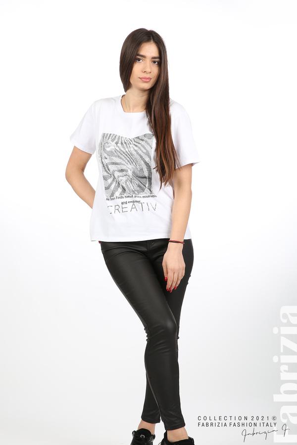 Блуза Creativ зебра бял 3 fabrizia