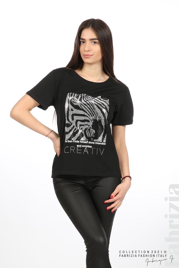 Блуза Creativ зебра черен 5 fabrizia