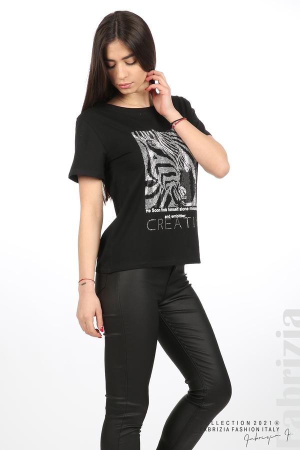 Блуза Creativ зебра черен 3 fabrizia