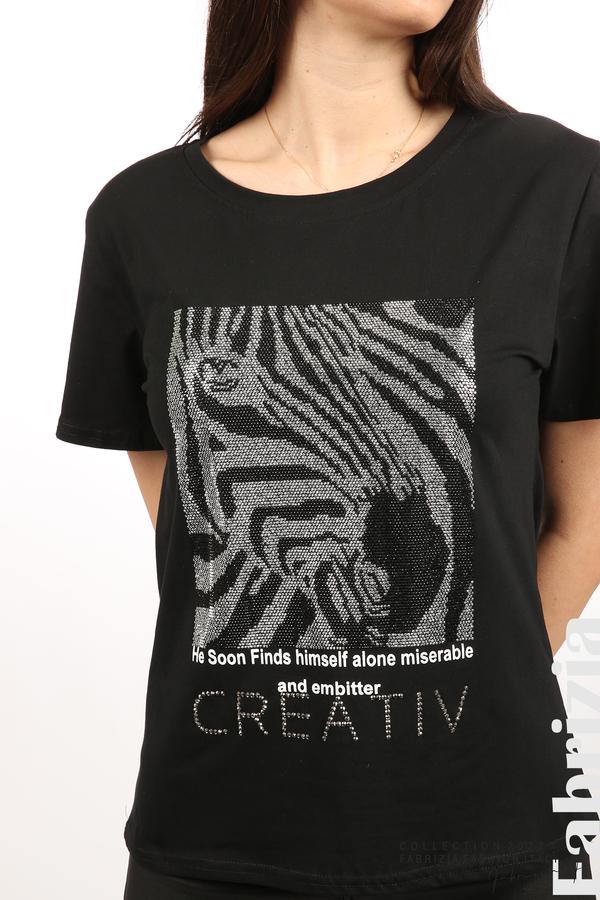 Блуза Creativ зебра черен 2 fabrizia